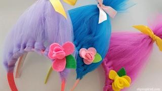 Trolls Movie DIY Craft: How to Make Toll Hair Headbands