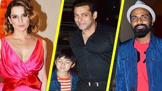 Salman Khan, Kangana Ranaut At Jackie Chain Kung Fu Yoga Party 2017