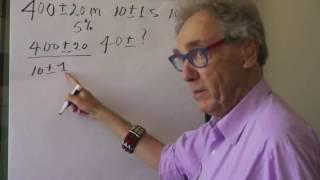 Uncertainty calculation - Walter Lewin