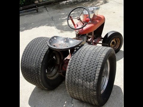 BAD ASS HOT RAT ROD WHEEL HORSE TRACTOR 10 CRAGARS FAT TIRES SCREAMIN HONDA ENGINE