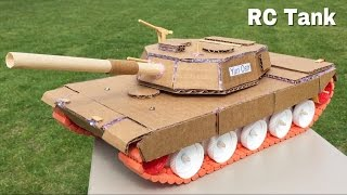 How to Make a Tank (Electric Car) Out of Cardboard - Remote Controlled Tank - M1 Abrams