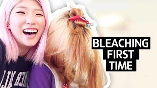 Trying to bleach someone else's hair for the first time