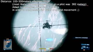 Battlefield 3 How to snipe Pilots (Helicopter/Jet)