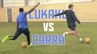 Romelu Lukaku vs Jamie Carragher! | Striker Masterclass