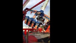 Video shows moment fair-ground ride collapses