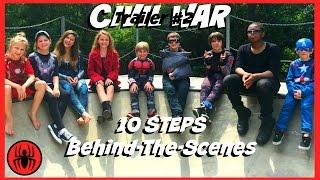 Captain America: Civil War Trailer 2, 10 steps BEHIND THE SCENES kid deadpool   SuperHeroKids BTS 5