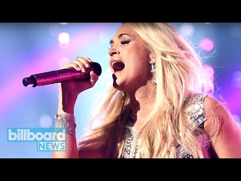 Carrie Underwood Makes Emotional Return With 'Cry Pretty' Performance at ACM Awards   Billboard News