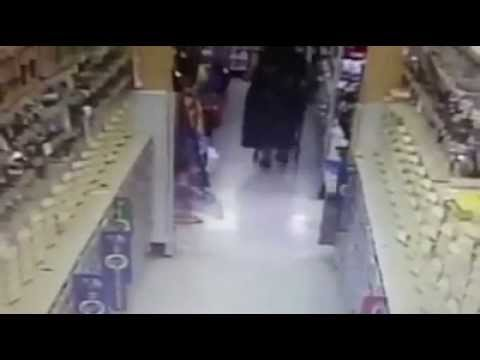 Woman Pees in Hardware Store