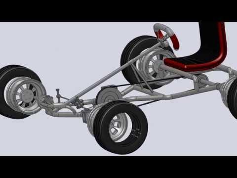 Pedal Go Kart 3D SolidWorks