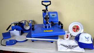 6 in 1 Sublimation Heat Press Machine Printing Tutorial