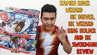 Kamen Rider Wizard DX Driver, DX Wizard Ring Holder and DX Swordgun Review