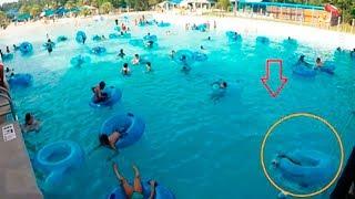 """كانو يستمتعون بالاستحمام في حوض السباحة""""لكن لم يلاحظو الكارثة التي حولهم""""..!!"""