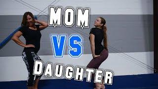 Mom VS Daughter Gymnastics Competition  Rachel Marie