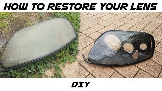 How To Restore Headlight Lenses on Toyota Supra