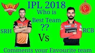 IPL 2018 SRH vs RCB (Sunrisers Hyderabad vs Royal Challenger Bangalore)