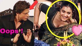 Omg ! Shahrukh Khan recently saved Kajol from big oops moment at Kolkata Film Festival