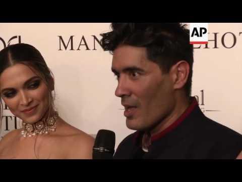 Actors Deepika Padukone, Fawad Khan model in Malhotra couture show