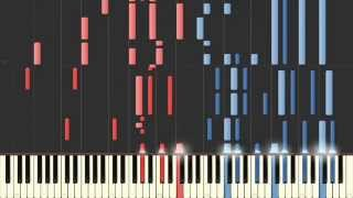 [Piano Four Hands] Space Battleship YAMATO (OP, Theme) [Synthesia tutorial]
