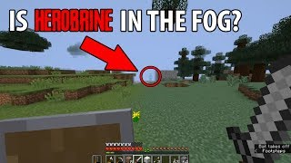 Finding Herobrine Hiding in The Fog in Minecraft? (Scary Herobrine Documentary)