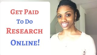 Get Paid $13-$75 An Hr. Doing Online Research!