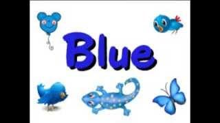 Color B L U E blue song   Kindergarten