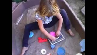 Cara's visible underwear!   Sand time with Cara #2