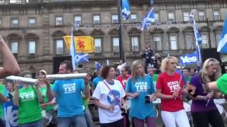 Bloc Yes Scotland's Samba Drummers
