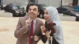Viral Awek Comel Excited Sangat Dapat Jumpa Mr Bean Miri!