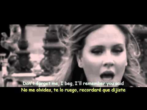 Adele Someone Like You Lyrics & Sub Español Official Video