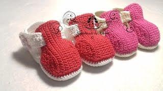 Crochet stylish baby shoes. Hekel Deftige Skoentjies. Part 3. Deel 3