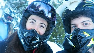 WE WENT SNOWMOBILING!!