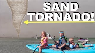 SAND TORNADO BLOWS KIDS OUT TO SEA!