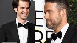 Ryan Reynolds and Andrew Garfield Shared a HUGE Kiss When Ryan Gosling Won His Golden Globe