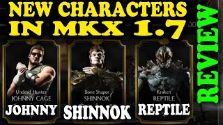 MKX Mobile 1.7 Characters: SHINNOK, JOHNNY AND REPTILE! Quick review!