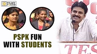 Pawan Kalyan Fun with Gates Students in Anantapur    Students Shocking Questions to PSPK