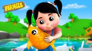 Once I Caught A Fish Alive | Nursery Rhymes For Kids by Farmees