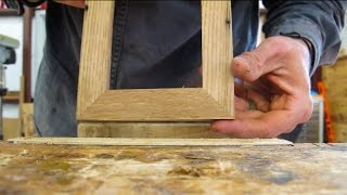 Making A Simple Mitered Picture Frame: No Clamps...No Miter Saw