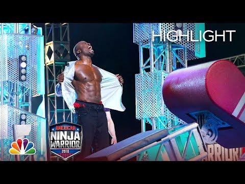 Xxx Mp4 Akbar Gbajabiamila S Ninja Warrior Run For Red Nose Day American Ninja Warrior 2018 3gp Sex