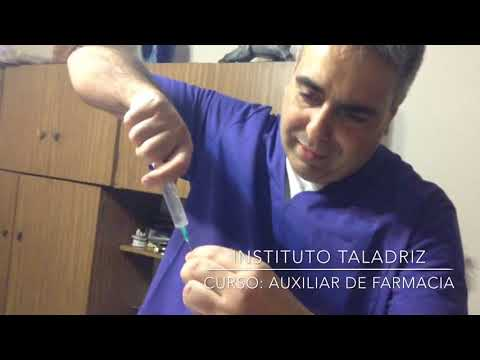 Aplicación de inyecciones. Dr. Sergio TALADRIZ Farmacéutico.