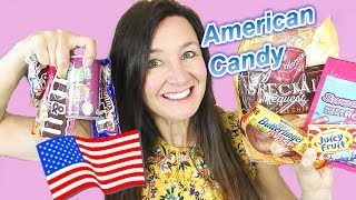 AMERICAN CANDY TASTE TEST  Caramel M&Ms SweetTart Rope