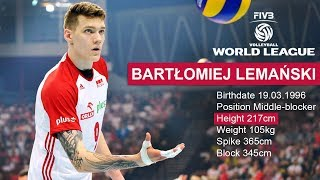 TOP 20 Crazy Volleyball Actions by  Bartłomiej Lemański (Height 217 cm)  World League 2017