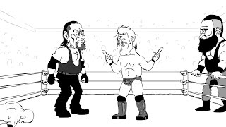 WWE Royal Rumble Cartoon feat. Bill Goldberg, Brock Lesnar, The Undertaker, Finn Balor and more