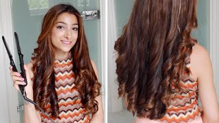 Hannah's Hair Tutorial - Curls With A Straightener | Amelia Liana