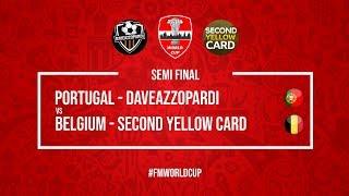 Portugal vs Belgium | DaveAzzopardi vs SecondYellowCard | Football Manager 2018 | #FMWorldCup