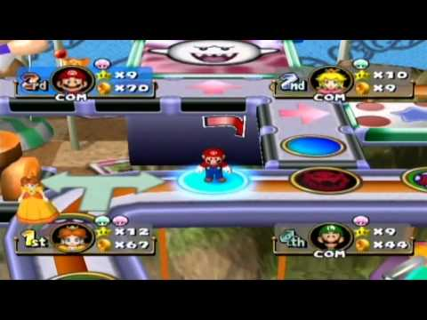 Mario Party 4 Princess Daisy in Toad s Midway Madness Gameplay