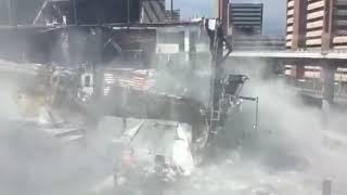 Así se derrumbó una sección de la plaza comercial Artz Pedregal