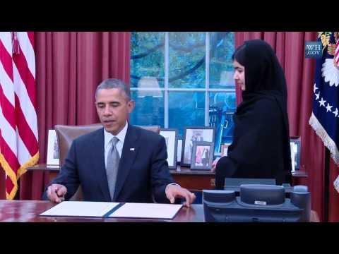 Obama Meets Malala Yousafzai