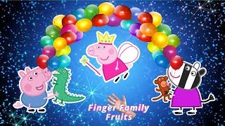 Peppa Pig Pop Balloons and Find Surprises | Finger Family Peppa Pig