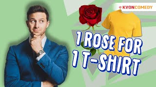 ONE Rose for ONE t-shirt (comedian K-VON vs KIDS in Fresno)