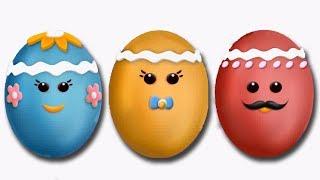The Finger Family Eggs Nursery Rhyme | Finger Family Songs Collection